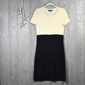 Alex Marie Sweater Dress Wool White Black Sz Small